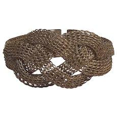 Sarah Cavender Metalworks mesh bracelet handcrafted - Red Tag Sale Item