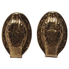 Whiting Davis snake head clip earrings