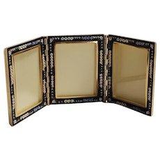 Italian mosaic triple  desk top picture frame