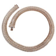 Milor Italy sterling silver mesh necklace