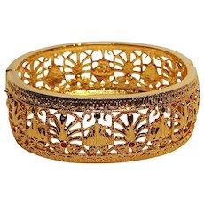 JBK Jacqueline Kennedy Burmese  bangle bracelet Camrose Cross