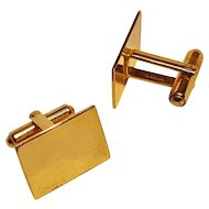 Simmons 14Kt Gold cufflinks rectangular yellow gold