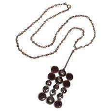 Lysgards Design Pewter pendant necklace Danish modernist design