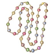 Austrian bezel set crystal necklace pastel colors