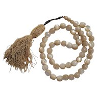 Antique mother of pearl worry prayer beads