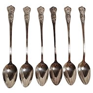 Naval Kings design Iced tea spoons International silverplate