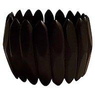 Victorian Vulcanite gutta percha wide stretch bracelet