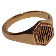 Vintage 10K yellow Gold Hartford Public High School class ring