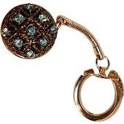 Rhinestone coin holder key chain key ring charm