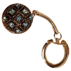 Rhinestone coin holder key chain key ring charm