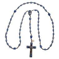 Lourdes bubble rosary legatura Alpacca Italy 585850 100th anniversary