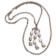 Trifari pendant necklace articulated Mod design