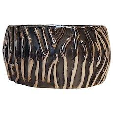 Sterling silver electroformed bangle bracelet Modernist design E&L