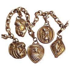 JE Sterling silver angels charm bracelet Michael Gabriel Raphael Anael Jophiel