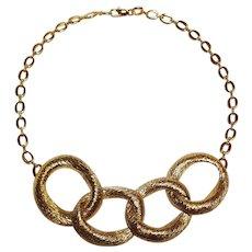 Park Lane Modern necklace brushed gold finish