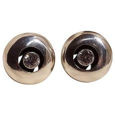 Taxco 950 sterling silver clip earrings Orquidea