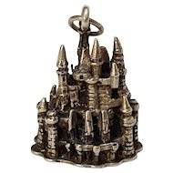 Sterling silver Disney Cinderella castle charm three dimensional