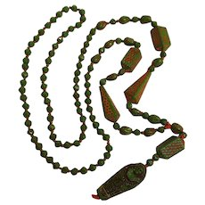 Max Neiger Egyptian Revival Art Deco bead necklace mummy