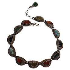 Miracle choker necklace Celtic design glass stones