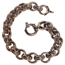Milor sterling silver large rolo link bracelet wire decoration