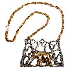 Napier Endangered Species series elephant necklace Eugene Bertolli