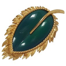 Napier green molded plastic insert leaf pin