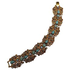 Florenza simulated turquoise and seed pearl bracelet