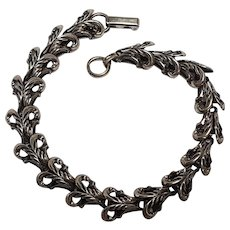 Beau sterling silver bracelet fully articulated links