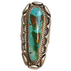 Stover Paul Navajo sterling silver turquoise ring