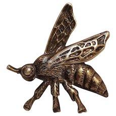 Viking Craft sterling silver bee pin Albert Horwig Co New York