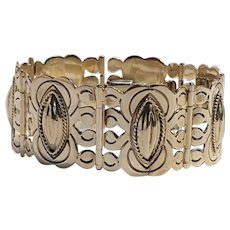 Sterling silver Mexico bracelet articulated plaques B