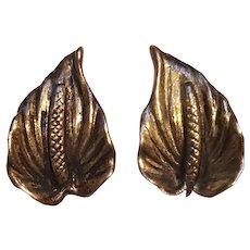 Mings of Honolulu sterling silver Anthurium flower earrings screw back