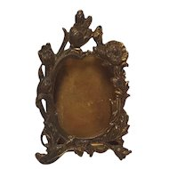 Miniature dollhouse easel  picture frame Art Nouveau design antique