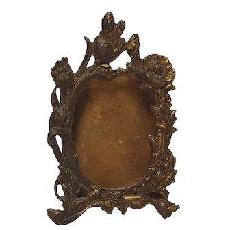 Miniature dollhouse easel  picture frame Art Nouveau design antique
