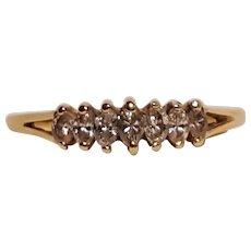 14K Gold marquise cut diamond ring seven stones