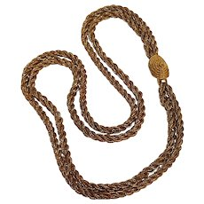 Napier two  strand triple twisted fox chain necklace