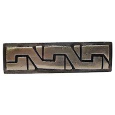 Antonio Pineda Taxco 970 silver tie clip Modernist design