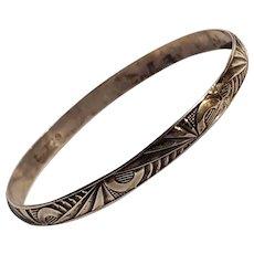 Danecraft Felch sterling silver geometric Art Deco bangle bracelet