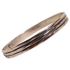 Danecraft Felch sterling silver bangle bracelet embossed design