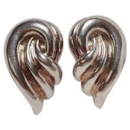Titok sterling silver electroformed clip earrings