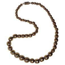 Taxco sterling silver bead necklace 95 grams 24 inch
