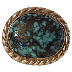 Anthony Kee Southwest sterling silver turquoise ring Navajo
