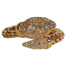 KJL Kenneth Jay Lane snake bracelet rhinestone coil wrap