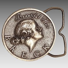Breck beautiful hair advertising buckle Bergamot brass works