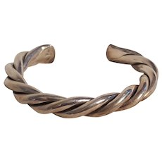 Silpada sterling silver chunky  twisted wire cable rope cuff bracelet
