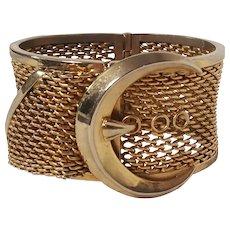 Bartek clamper bracelet wide mesh with buckle motif