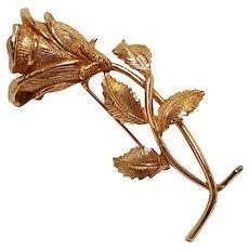 Castlecliff single stem rose bud  pin figural