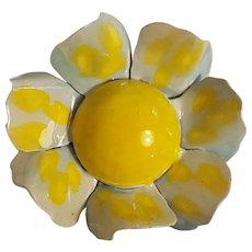 Original by Robert enamel flower head pin