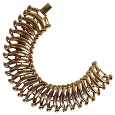 Napier Sutton Place bracelet articulated crescent links