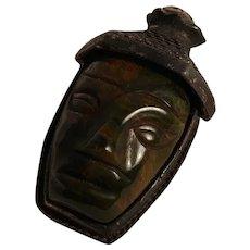 Rare Sandor Bakelite fur clip Balinese head bust